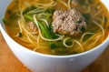 Ginger And Garlic Noodle Soup with Grass-fed Meatballs