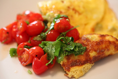 Avocado Omelet with Cherry Tomato Lime Relish | Goldilocks Finds ...