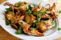 Chinese-Style Blue Crabs with Scallion and Ginger Sauce