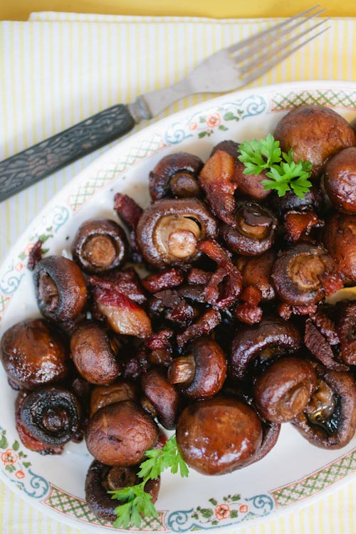 Pan Roasted Mushrooms with Bacon Ends | Goldilocks Finds Manhattan