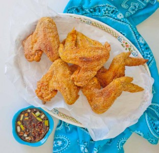 Turmeric Wings with Soy Sauce Vinegar Dipping Sauce (1 of 1)