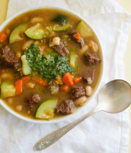 Summer Beef Soup with Garden Herb Pesto (6 of 7)