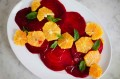 Beet Salad with Orange Slices and Mint